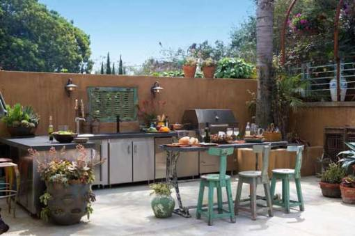 L-Shaped-Open-Air-Outdoor-Kitchen-Design
